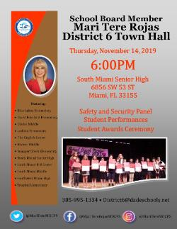 Town Hall Meeting with School Board Member Mari Tere Rojas